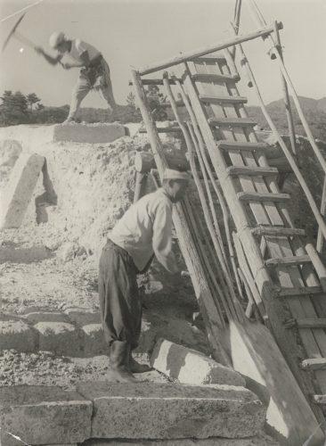 露天掘りによる大谷石採石