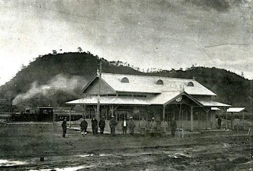 Arahari Station when it started its operation (around 1915)
